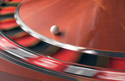 bilden för kasinot 3d framförde rouletten Fotografering för Bildbyråer