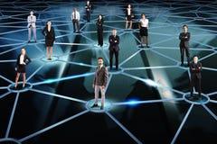 bilden för nätverket 3d framförde samkväm Royaltyfria Bilder
