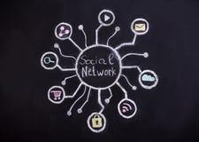 bilden för nätverket 3d framförde samkväm Royaltyfri Bild