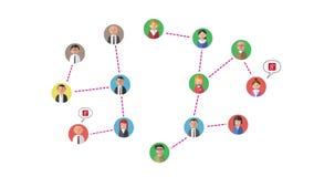 bilden för nätverket 3d framförde samkväm stock illustrationer