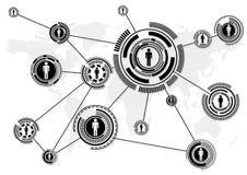 bilden för nätverket 3d framförde samkväm royaltyfri illustrationer