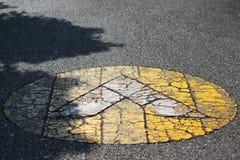 bilden för riktningen 3d framförde tecknet Royaltyfri Fotografi