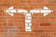 bilden för riktningen 3d framförde tecknet Royaltyfri Bild