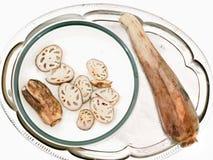 bilden för tät lotusblomma för pinnar rotar medelupp Royaltyfria Bilder