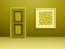 Bilden och dörren Arkivfoton