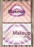 Bilden Sie abstrakten Gutschein mit purpurrotem Lippenhintergrund Vektor lizenzfreie abbildung