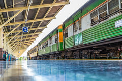Bilden Sie Abweichen von Hualampong-Station Bangkok Thailand mit HDR-Art aus Stockfoto