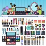Bilden Sie Ausrüstung im Schönheitsspeicher Stockbilder