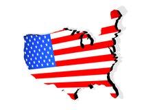 Bilden Sie die USA ab Stockbild