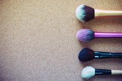 Bilden Sie kosmetische Bürste Stockfoto