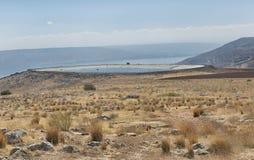 Bilden Sie Löcher, um Regenwasser auf Berg Arbel zu sammeln stockbilder