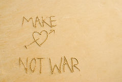 Bilden Sie Liebes-nicht Krieg Stockfotografie