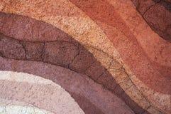 Bilden Sie sich von den Bodenschichten, von seiner Farbe und von den Beschaffenheiten Stockbilder