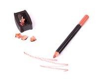 Bilden Sie Zwischenlage mit Bleistiftspitzer Stockfotografie