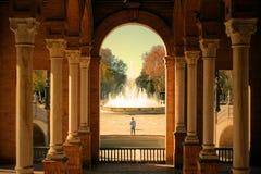 Bilden togs i plazaen Espana fotografering för bildbyråer