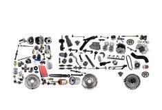 Bilder åker lastbil församlat från nya reservdelar Royaltyfri Bild