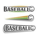 Bilder auf dem Thema des Baseballs vektor abbildung