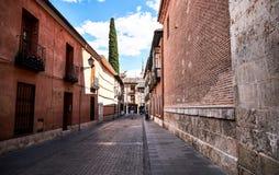 Bilder av gamla grannskapar av Alcala de Henares, Spanien Arkivbilder