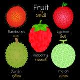 Bilder av olika frukter Royaltyfri Bild