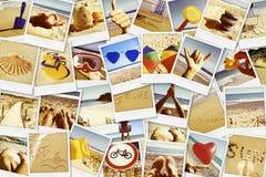 Bilder av olika sommarlandskap som mig själv skjutas Royaltyfri Bild