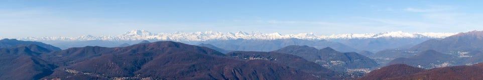 Bilder der Alpen von Monte Rosa Stockfoto