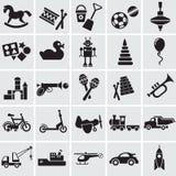25 Bilder der Spielwaren der Kinder Stockbild