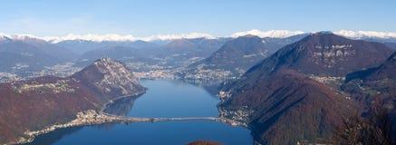 Bilder des Golfs von Lugano-Stadt Stockfoto