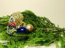 Bilder des neuen Jahres und des Weihnachten Lizenzfreies Stockbild