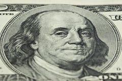 100 bilder för dollarräkning Arkivbild