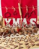 bilder för julkakafind ser mer min portfölj samma serie till Tappningstätta Julpynt - bokstav Arkivbild