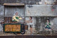 Bilder Georgetowns Malaysia auf einer Wand Penang stockfotos