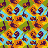 Bilder mit Katzen Nahtloses Muster Vektor Lizenzfreie Stockbilder