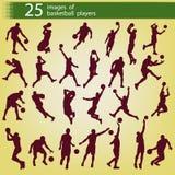 25 Bilder von Basketball-Spielern Stockbild