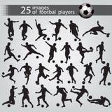 25 Bilder von Fußballspielern Stockfotografie