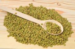 Bilder von grünen Linsen mit hoher Nahrung Stockfotografie