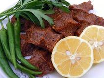 Bilder von rohen Fleischklöschen für Logos und Grafiken Lizenzfreies Stockfoto