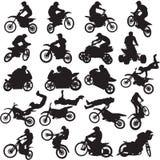 20 Bilder von Sportlern von Motorradfahrern Stockfotos
