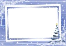 Bilderrahmen auf einem blauen Hintergrund Stockbild
