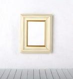 Bilderrahmen auf einer Wand Stockbild