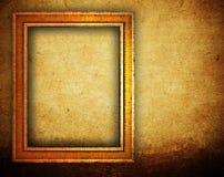 Bilderrahmen auf grunge Wand Stockfoto