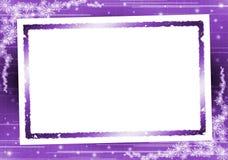 Bilderrahmen auf purpurrotem Hintergrund lizenzfreie abbildung