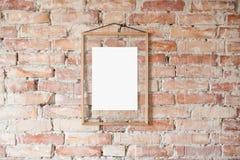 Bilderrahmen auf Wand Stockbild