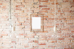 Bilderrahmen auf Wand Stockbilder