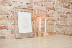 Bilderrahmen auf Wand Lizenzfreies Stockbild