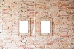 Bilderrahmen auf Wand Stockfotografie