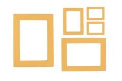 5 Bilderrahmen auf weißem Hintergrund Lizenzfreie Stockfotos