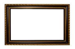 Bilderrahmen aus Holz oder Abbildung auf weißem Hintergrund Lizenzfreie Stockfotografie