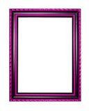 Bilderrahmen aus Holz oder Abbildung auf weißem Hintergrund Lizenzfreie Stockbilder