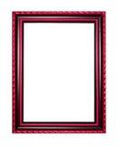 Bilderrahmen aus Holz oder Abbildung auf weißem Hintergrund Stockbild