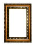 Bilderrahmen aus Holz oder Abbildung auf weißem Hintergrund Lizenzfreie Stockfotos